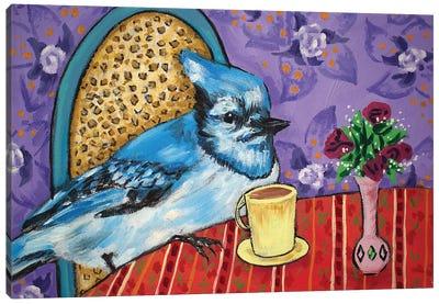 Blue Jay Coffee Canvas Art Print