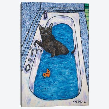 Bombay Cat Bath Canvas Print #JSM9} by Jay Schmetz Canvas Print