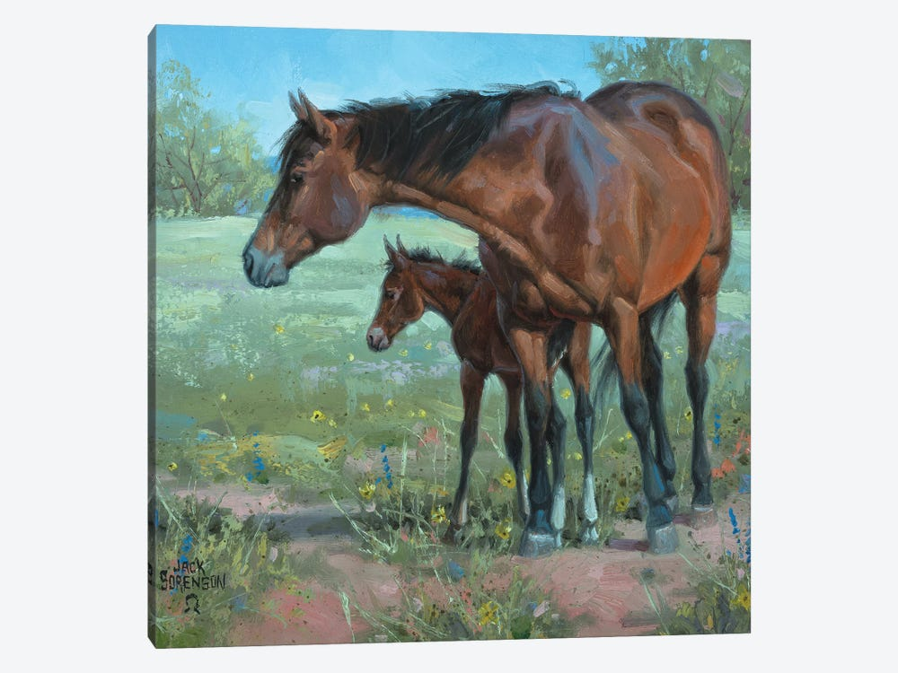 Under Mama's Watchful Eye by Jack Sorenson 1-piece Canvas Wall Art