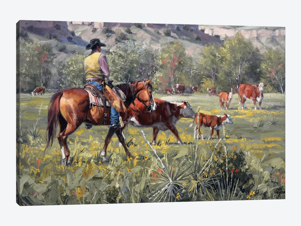 A Darn Good Spring by Jack Sorenson 1-piece Canvas Art Print