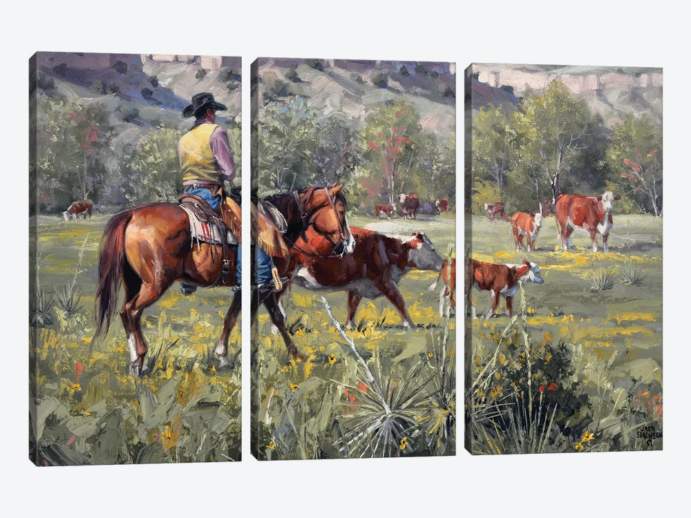 A Darn Good Spring by Jack Sorenson 3-piece Canvas Art Print