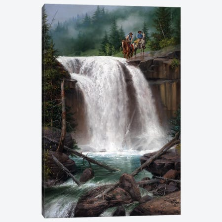 Above the Falls Canvas Print #JSO20} by Jack Sorenson Canvas Artwork