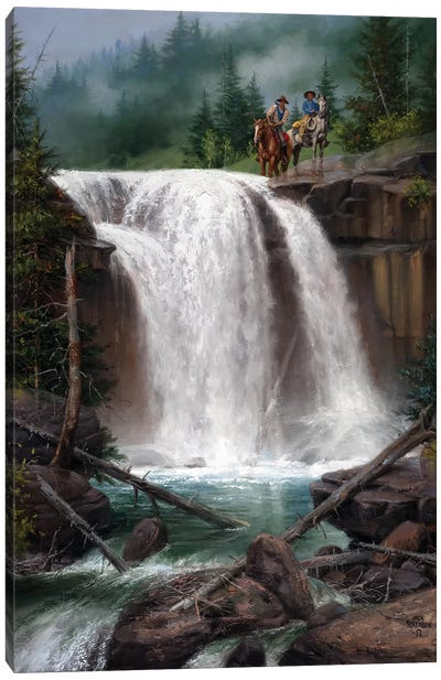 Above the Falls Canvas Art Print