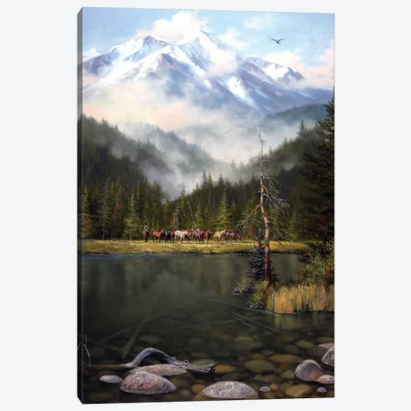 As the Mist Slowly Rises Canvas Print #JSO21} by Jack Sorenson Canvas Wall Art