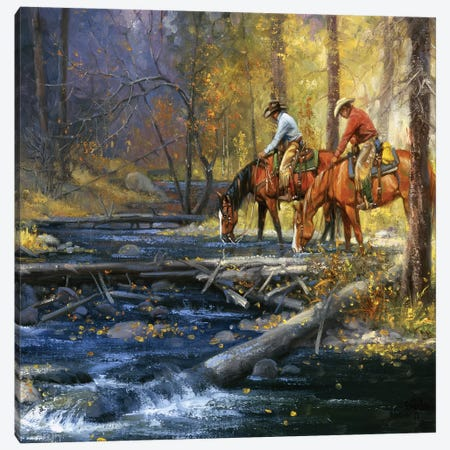 Cold Water & Falling Leaves Canvas Print #JSO22} by Jack Sorenson Canvas Artwork
