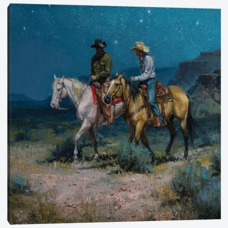 Night Riders Canvas Print #JSO26} by Jack Sorenson Canvas Art Print