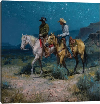 Night Riders Canvas Art Print