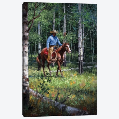 Through the Aspen Canvas Print #JSO29} by Jack Sorenson Canvas Artwork