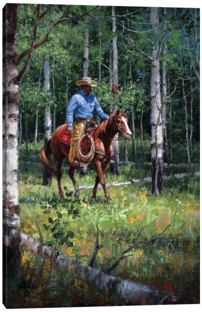 Through the Aspen Canvas Art Print