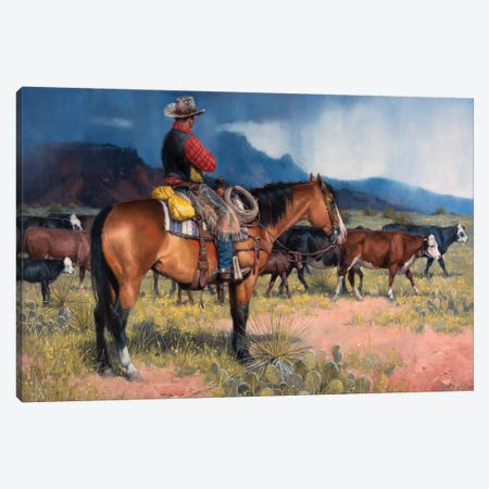 Twenty Years in the Saddle Canvas Print #JSO30} by Jack Sorenson Canvas Art Print