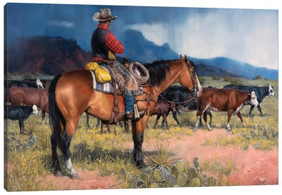Twenty Years in the Saddle Canvas Art Print