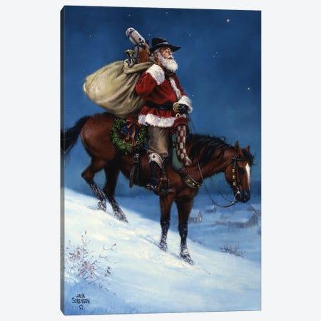 A Cowboy Christmas Canvas Print #JSO31} by Jack Sorenson Art Print