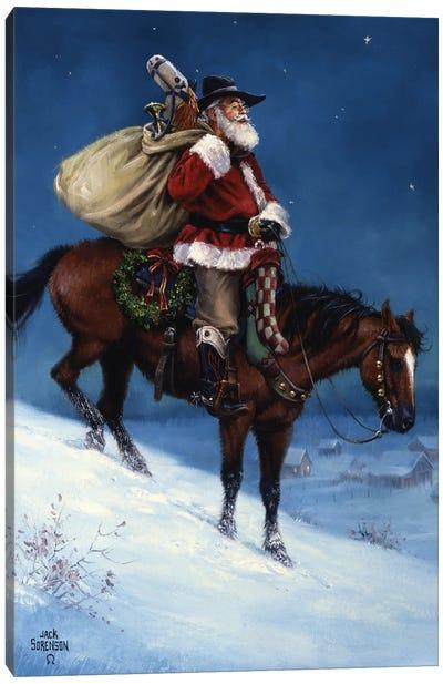 A Cowboy Christmas Canvas Art Print