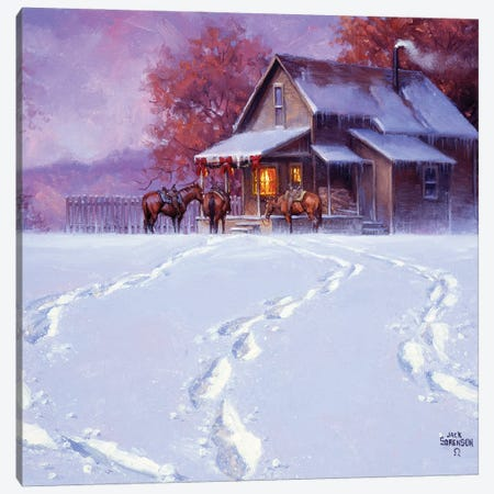All Tracks Lead Home for the Holidays Canvas Print #JSO32} by Jack Sorenson Canvas Print