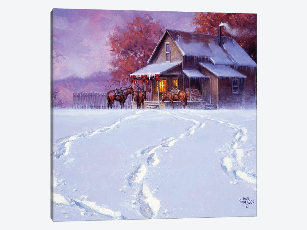All Tracks Lead Home for the Holidays by Jack Sorenson 1-piece Canvas Artwork