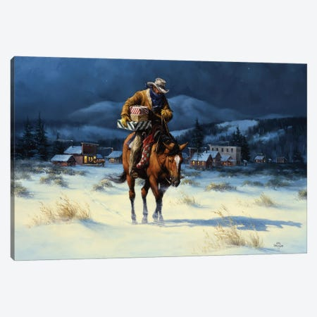 Bringing Christmas Home Canvas Print #JSO33} by Jack Sorenson Canvas Print