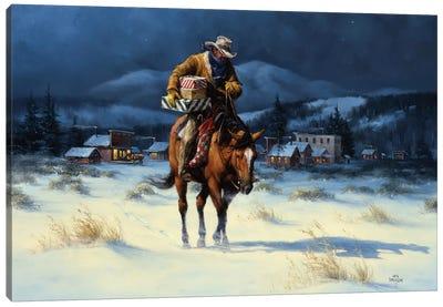 Bringing Christmas Home Canvas Art Print