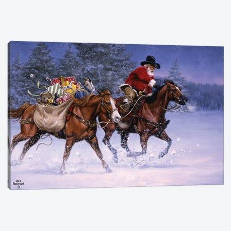 Christmas Rush Canvas Print #JSO34} by Jack Sorenson Canvas Wall Art