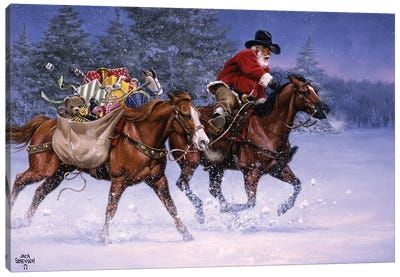 Christmas Rush Canvas Art Print