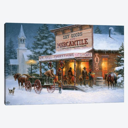 Christmas Wishes Canvas Print #JSO35} by Jack Sorenson Canvas Artwork