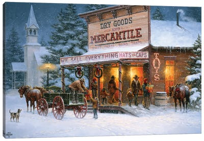 Christmas Wishes Canvas Art Print