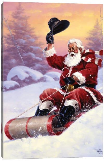 Here Comes Santa Canvas Art Print