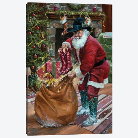 New Boots for Christmas Canvas Print #JSO40} by Jack Sorenson Canvas Artwork
