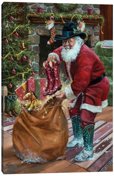 New Boots for Christmas Canvas Art Print