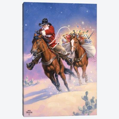 Santas Big Ride 3-Piece Canvas #JSO43} by Jack Sorenson Canvas Art