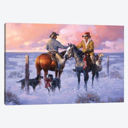 Sharin Christmas with the Neighbors Canvas Print #JSO44} by Jack Sorenson Art Print