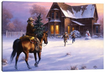The Day Daddy Brought Home the Tree Canvas Art Print