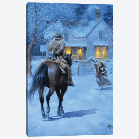 The Homecoming Canvas Print #JSO49} by Jack Sorenson Canvas Artwork
