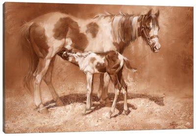Sienna Paint Canvas Art Print