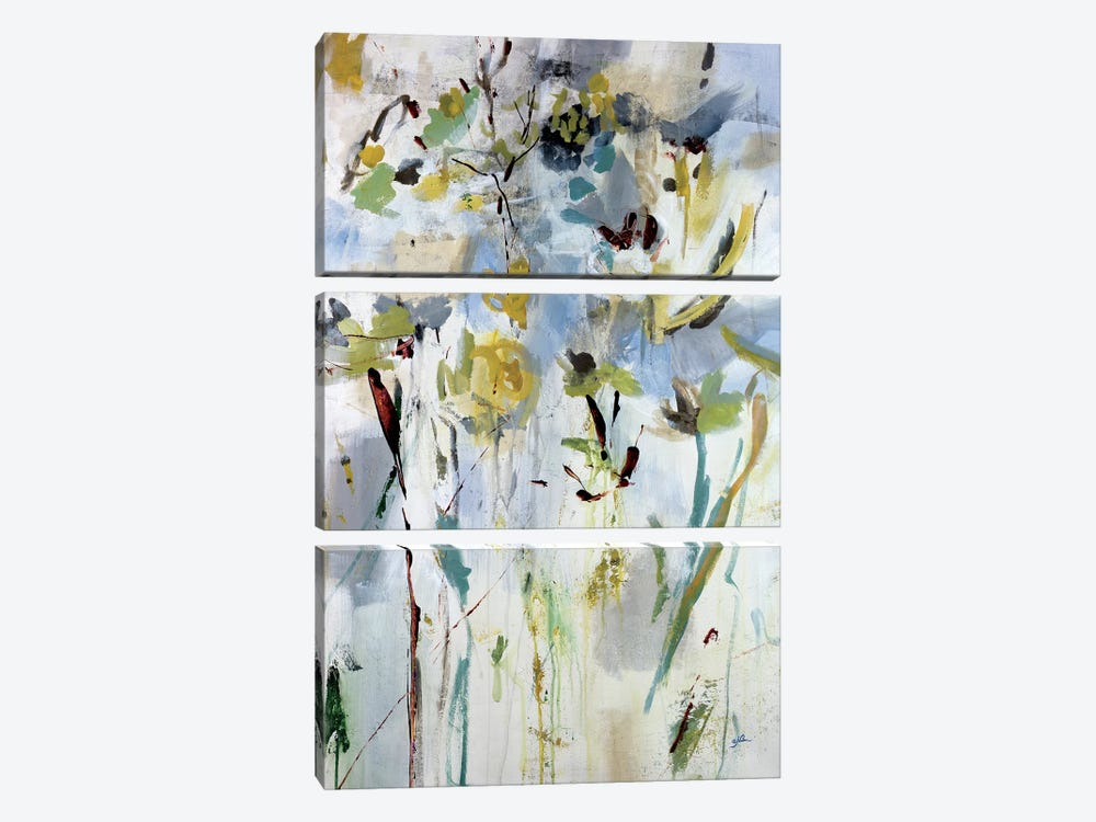 Floral Light II by Julian Spencer 3-piece Canvas Art Print