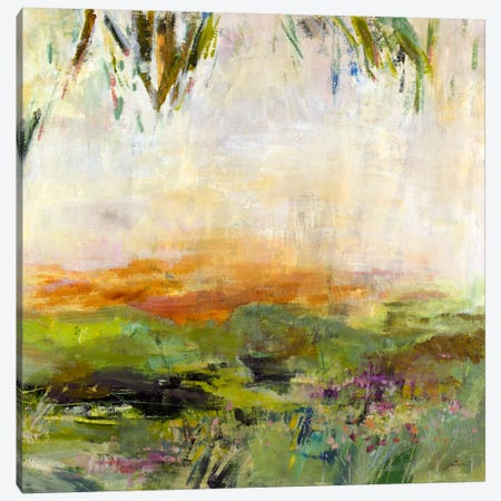 Meadow Sunset Canvas Print #JSR109} by Julian Spencer Canvas Artwork