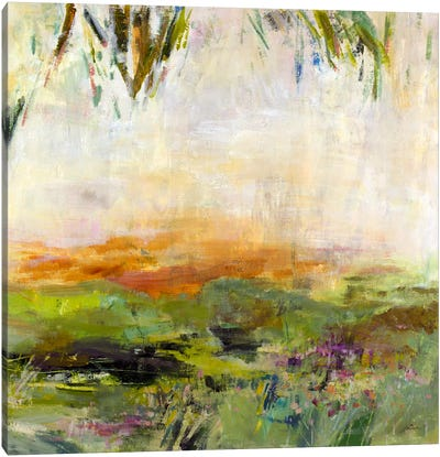 Meadow Sunset Canvas Art Print