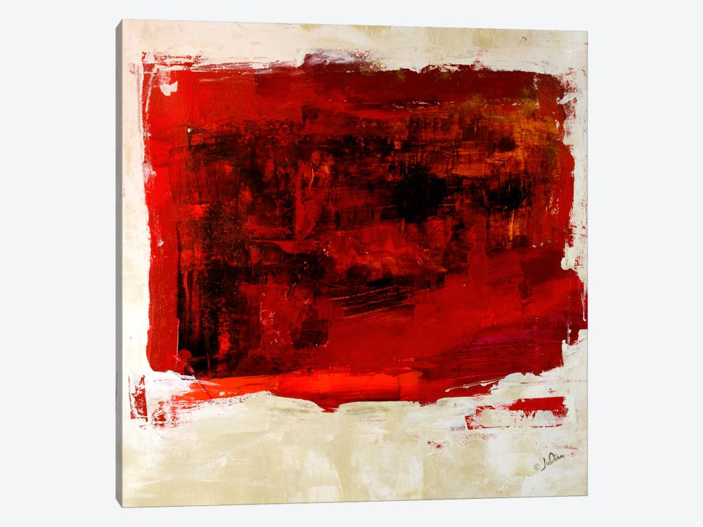 Red Study 1-piece Canvas Art Print