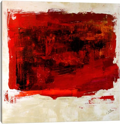 Red Study Canvas Art Print