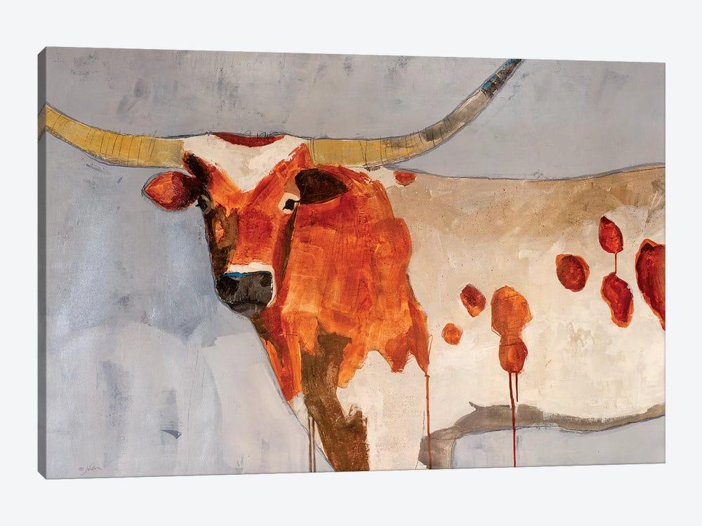 Longhorn Short Temper by Julian Spencer 1-piece Canvas Art Print