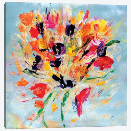 Kiss Me Floral Canvas Print #JSR149} by Julian Spencer Canvas Art