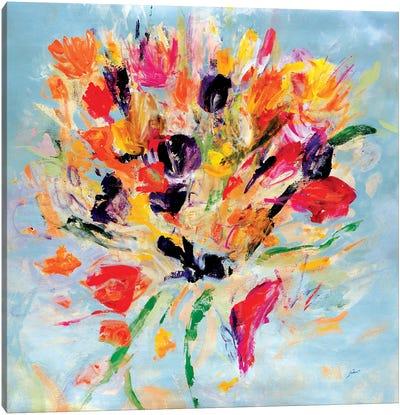 Kiss Me Floral Canvas Art Print