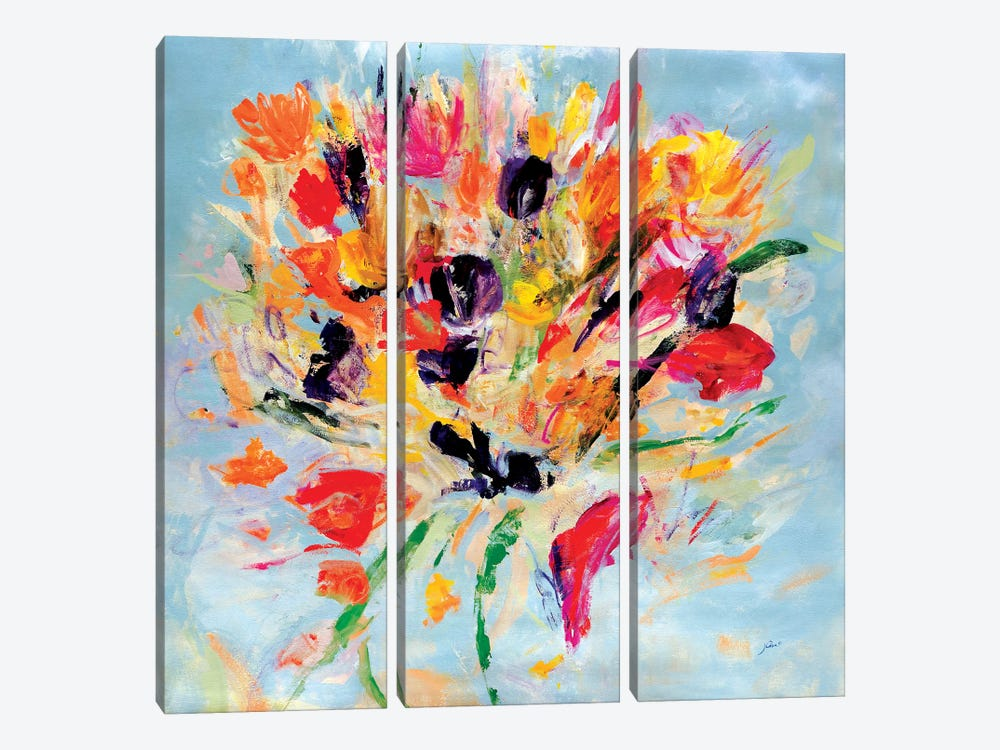 Kiss Me Floral by Julian Spencer 3-piece Canvas Artwork