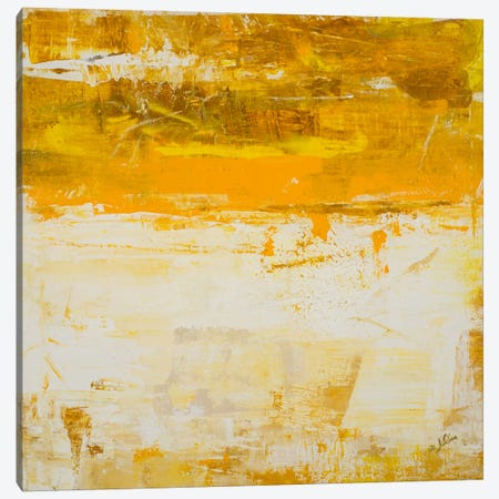 Yellow Field Canvas Print #JSR16} by Julian Spencer Art Print