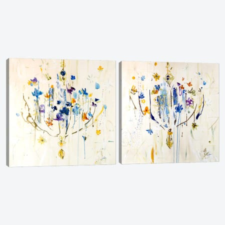 Natural Chandelier Diptych Canvas Print Set #JSR2HSET002} by Julian Spencer Canvas Art Print