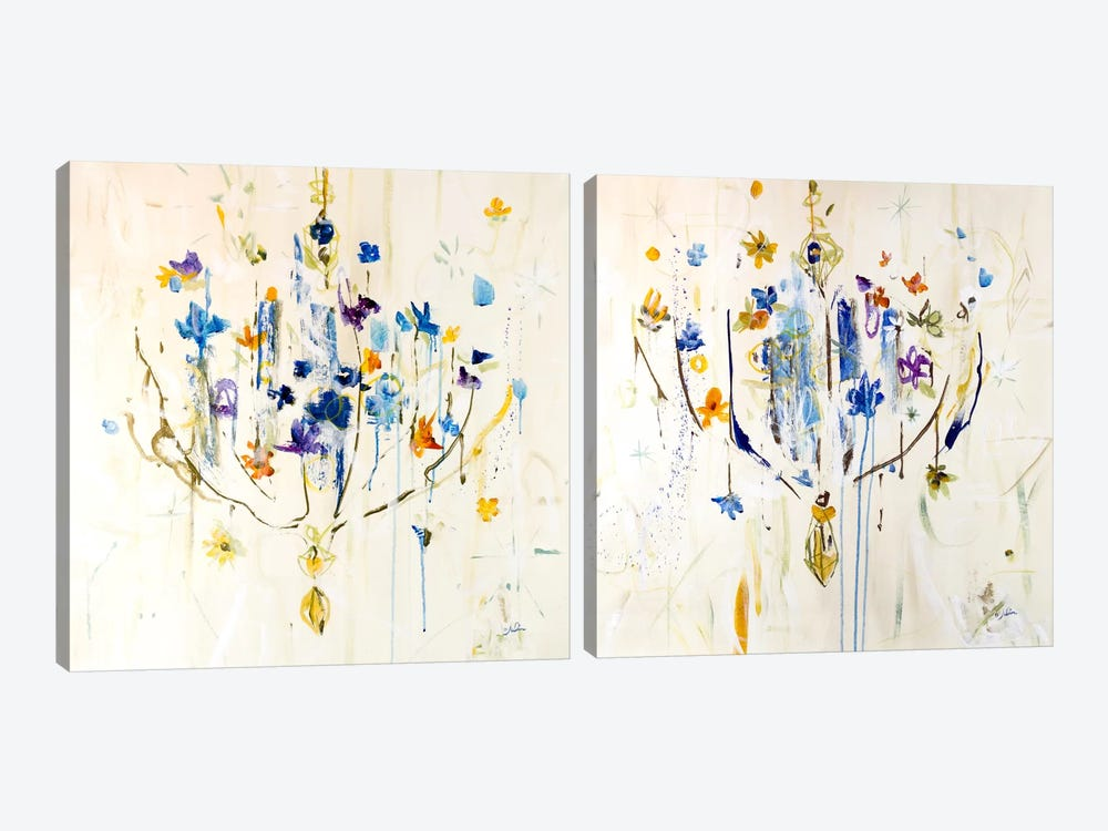 Natural Chandelier Diptych by Julian Spencer 2-piece Canvas Art Print