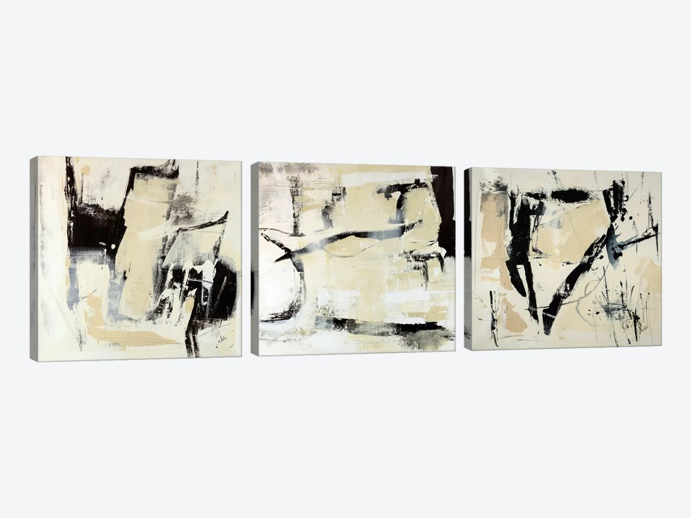 Pieces Triptych by Julian Spencer 3-piece Art Print