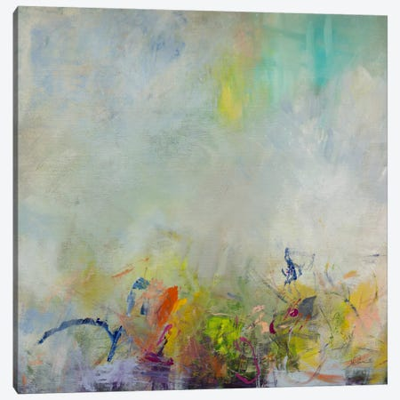 Grass and Chalk Canvas Print #JSR56} by Julian Spencer Art Print