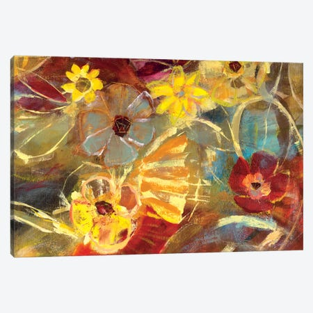Chalkboard Flowers II Canvas Print #JSR82} by Julian Spencer Canvas Art Print