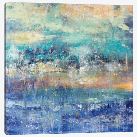 Lights On The Lake Canvas Print #JSR84} by Julian Spencer Canvas Wall Art