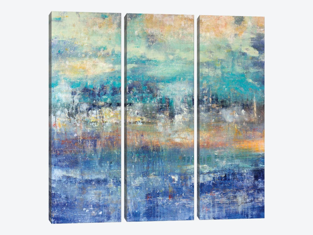 Lights On The Lake by Julian Spencer 3-piece Canvas Art Print